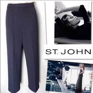 ST. JOHN COLLECTION GRAY SANTANA KNIT PANTS SZ 4